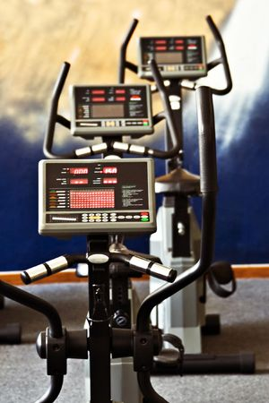 static bike: Fitness centre spinning studio, training facility