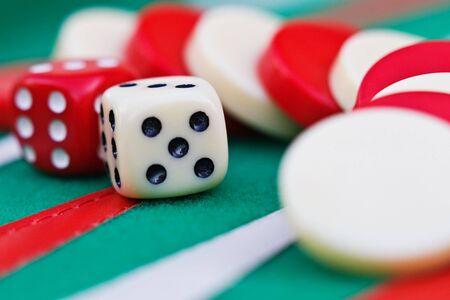 Backgammon,  Sugoroku, Nard, Tabula , game is originated in ancient Persia is very popular between gamblers in Europe through Asia, photo