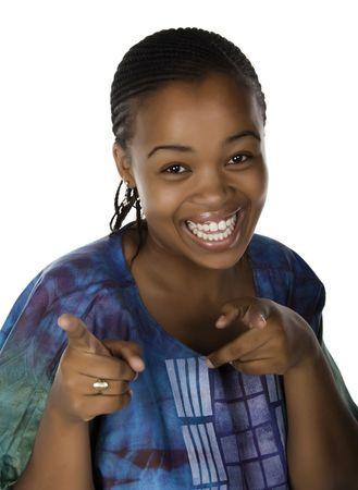 dreadlocks: African American girl vestidos tradicionales  Foto de archivo