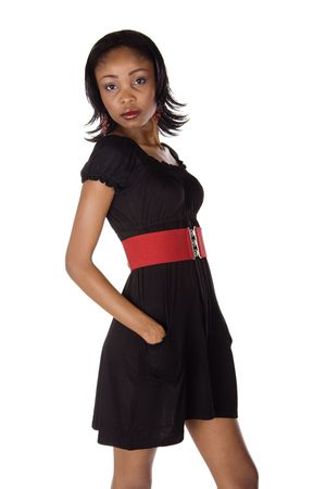Afroamericanas ni�a vestidos casuales  Foto de archivo - 2802612
