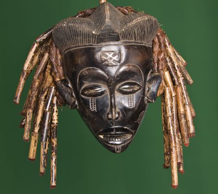 primitive art: Collection of vintage African masks different styles South Africa, Congo, Chad, Kenya, Uganda, Stock Photo