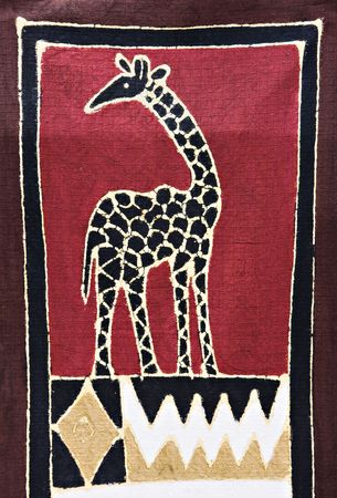 motifs: Tribal craft, giraffe and traditional african motifs painted on rugged textile