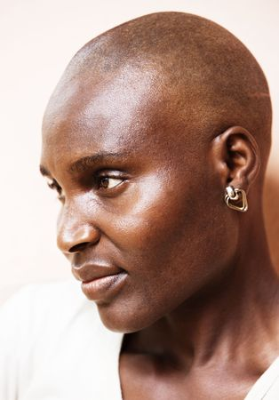 Village African woman no makeup, high contrast image to put in evidence texture of the skin Stock Photo - 2863380