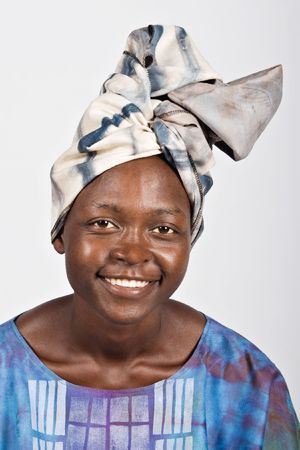 Young woman from Zimbabwe in tribal clothing