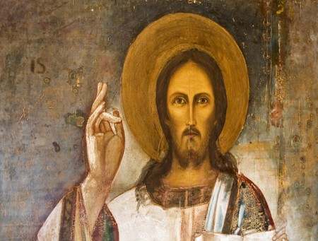 jesus hands: This icon is dated cca 1800 , found in a monastery near Varna in Bulgaria, seems original owner was princess Ruxandra of Romania