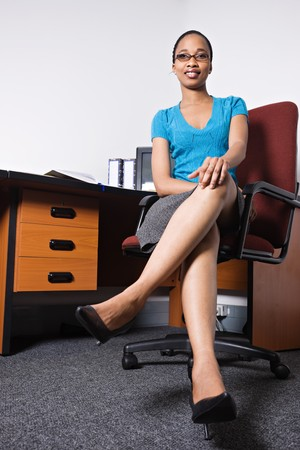 african american woman in the office photo