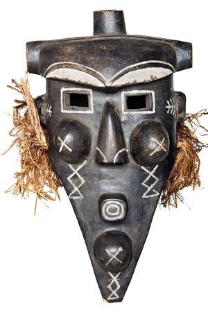 Tribal African mask used in traditional ceremonies. photo