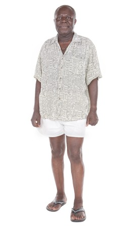 old black man: senior african man in holiday clothes