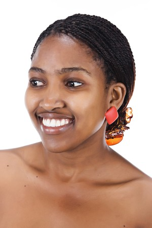Portrait of a beautiful African girl with braids photo