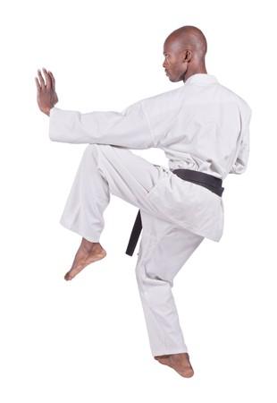 african american man in karate suit