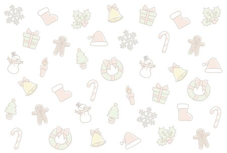 Background of the Christmas motif. I drew this like a hand-drawn. Stock Illustratie