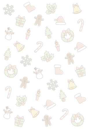 Background of the Christmas motif. I drew this like a hand-drawn.Vertical size.