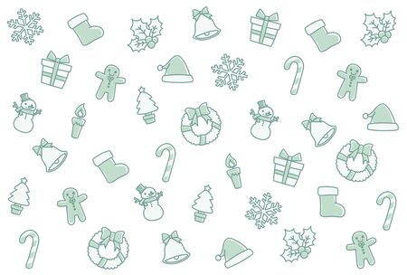 Background of the Christmas motif. I drew this like a hand-drawn.  イラスト・ベクター素材