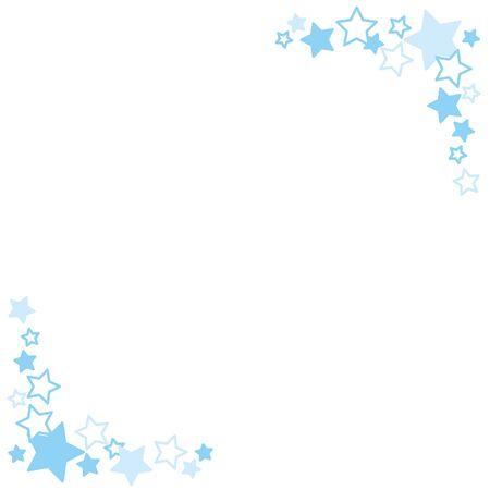 Illustration of twinkle star pattern frame.  イラスト・ベクター素材