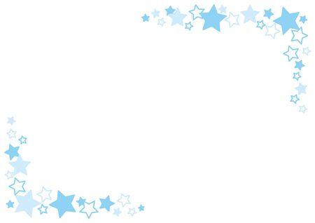Illustration of a star pattern frame.  イラスト・ベクター素材