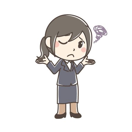 Illustration of a working woman. Фото со стока - 127751480