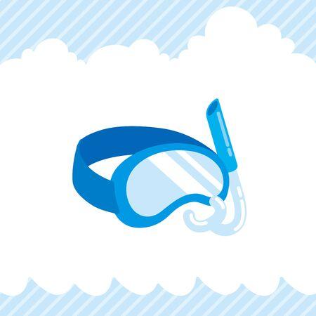 Illustration of cute swimming goggles.