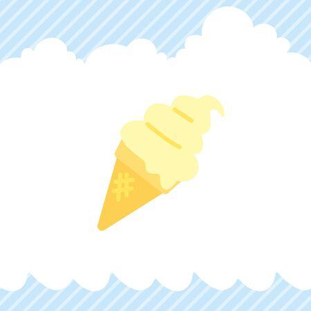 Illustration of soft serve ice cream.
