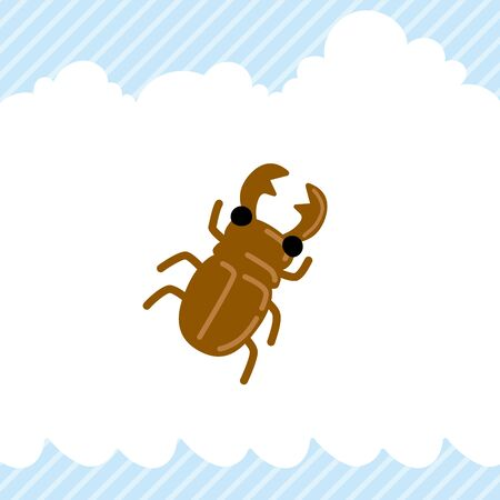 Illustration of cute stag bug.