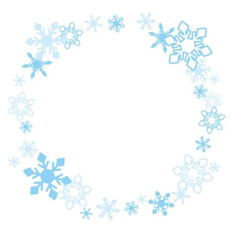 Illustration of cute snowflake frame.