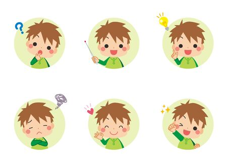 Illustration of a child expressing thoughts and emotions.