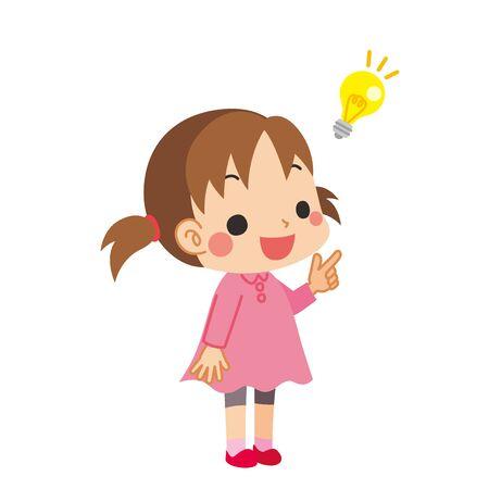 Illustration of a little girl who had an idea.