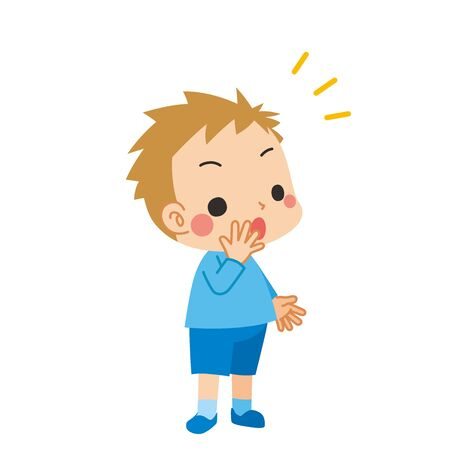 Illustration of a little boy who notices something.