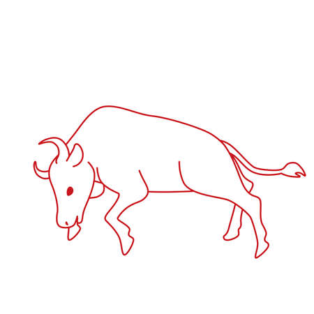 Illustration of a simple cow.