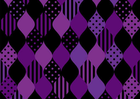 Illustration of Cute geometric patterns inspired by Halloween.