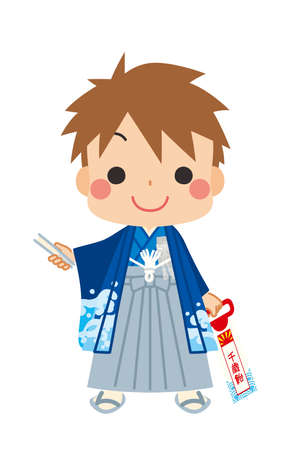 Illustration of a boy wearing the costume of