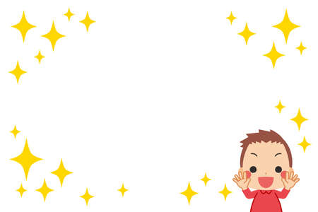 Illustration of a little child who is happy.