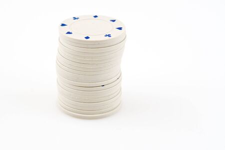 White chips in one column whit blue signs Stock Photo - 4323581