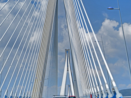 Antirrio bridge or Charilaos Trikoupis Bridge Stock Photo - 80610597