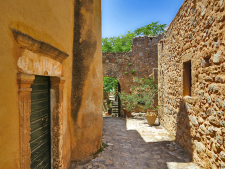 Monemvasia street, Greece Stock Photo