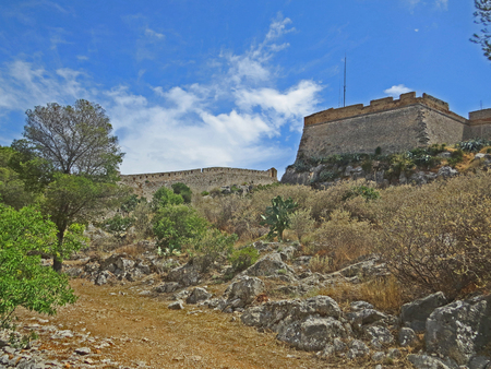 Nafplio castle fortress Stock Photo - 80610603