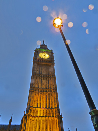Big Ben or Elizabeth Tower, Palace of Westminster, London Stock Photo - 80824430