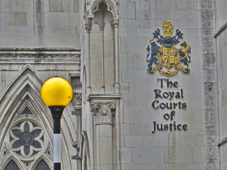 The Royal Courts of Justice Stock Photo - 80780286