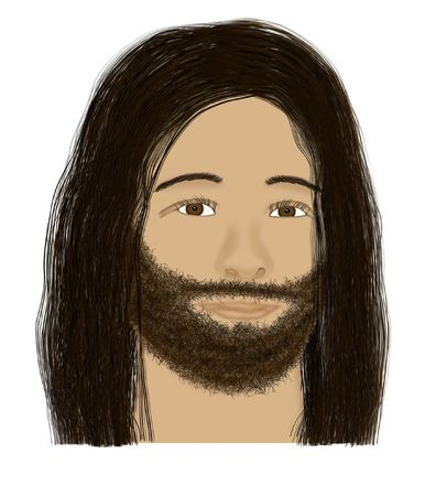 sacrificed: The face of Christ Stock Photo