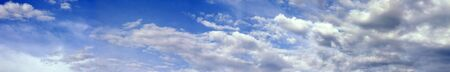 billowing: a panoramic view of billowing clouds