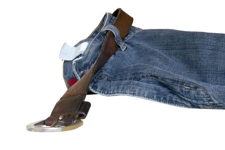 cast off: a pair of pants tossed aside