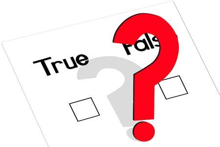 true: True and false question with a checkmark