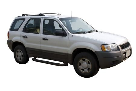 a white SUV