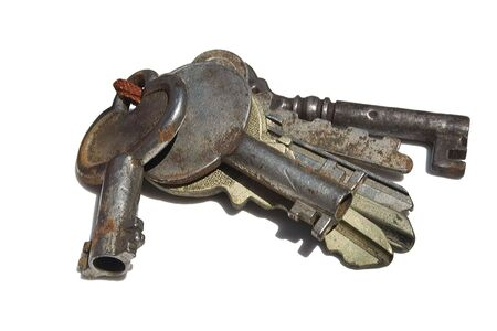 a group of old keys