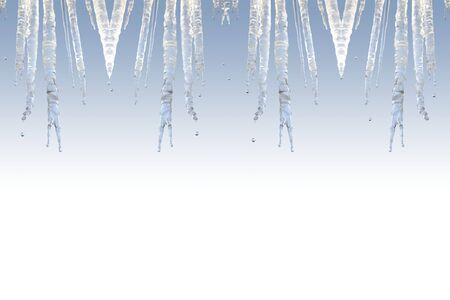 a pretty icicle frame photo