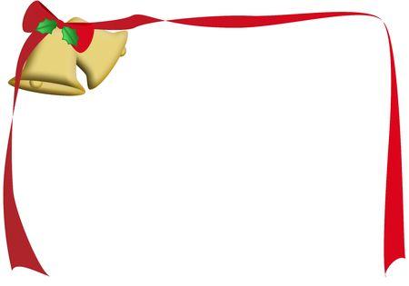 a frame of a ribbon tied to some bells Reklamní fotografie