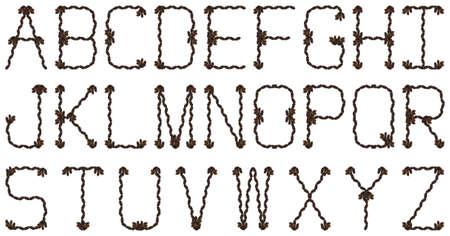 el alfabeto compuesto de piñas Foto de archivo - 632148