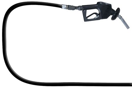 a gas pump and hose over a white background Stock fotó - 661535