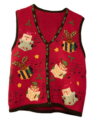 a cheerful holiday vest