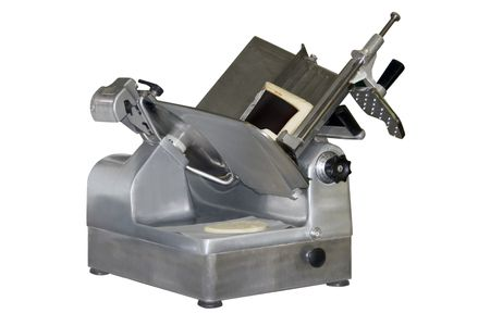 a deli slicer over a white background 写真素材
