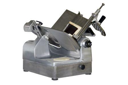 een deli snijmachine over een witte achtergrond